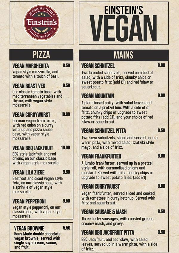 tap haus vegan menu
